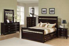 C201311 Manhattan Collection 4 Piece Queen Storage Bedroom Set bed, dresser, mirror, nightstand | New $1299 Sale $969.00 Friends Discounted Price $726.75