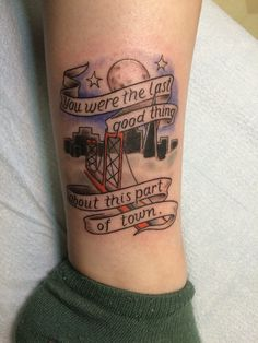 fuckyeahpoppunktattoos:   Submitted by emrycrmy.  Grand Theft Autumn - Fall Out Boy my second fob ankle piece, so now I have a matching set!