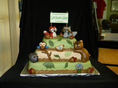 This was for a good friend of mine.  She was decorating her nursery in Carter's Forest Friends baby bedding.
