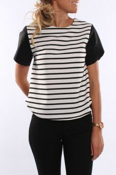 Hook Me Pleather Sleeve Top $44 SHOP: http://www.jeanjail.com.au/ladies/hook-me-plather-sleeve-top.html