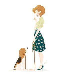 Interesting Beagle Friendly Loyal And Loving Ideas. Glorious Beagle Friendly Loyal And Loving Ideas. Art And Illustration, Character Illustration, Beagle Pictures, Beagle Art, Girl And Dog, Dog Art, Dog Love, Character Art, Cartoons