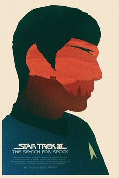 This Star Trek poster is intriguing due to how Simon C Page has used scenery and textures to create the image of Spock. By the portrait alone, it shows us who the movie is about, as well as where it's set. I saved this because I could use this for my animal posters to show what the animal is, as well as give a visual depiction of its natural habitat.