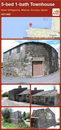Townhouse for Sale in Near Ortigueira, Manon, Coruna, Spain with 5 bedrooms, 1 bathroom - A Spanish Life Village Houses, Rural Area, Semi Detached, Stables, Beams, Townhouse, Restoration, Spain, Bathroom