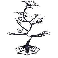 Plastic Halloween Tree Décor ($9.99) ❤ liked on Polyvore featuring home, home decor, holiday decorations, halloween and halloween home decor