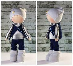 Doll boy Gordey. Tilda doll. Textile doll. Soft toy. by OwlsUa
