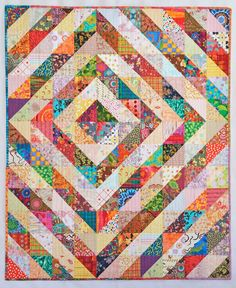 Quilternity's Place: Half-square Triangle values quilt finished!!!
