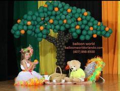 Balloon tree sculpture.