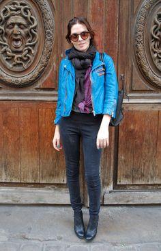 Blue motorcycle jacket