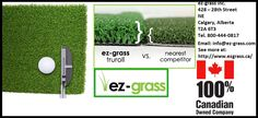 EZ-Grass Inc. provides better artificial Golf Turf then any artificial grass provider in Canada which makes play golf easy and injury less.