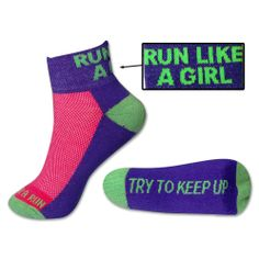 #goneforarun Yakety Yak! Running Socks - Run Like A Girl