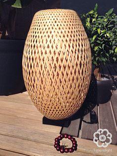 """Bois bambou tressé plateau verre fruits Thai Handcraft Taille 8/"""" X 8/"""" Spa restaurant"""
