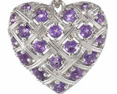 Silver Amethyst Heart Basketweave Pendant Necklace Review