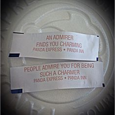 Matching Fortunes:)