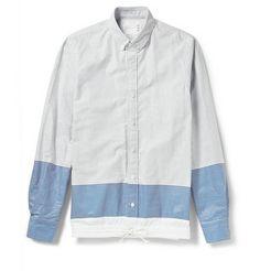 Sacai Striped Cotton Shirt | MR PORTER