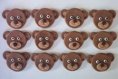 Teddy Bears Edible Cupcake or Cookie Toppers