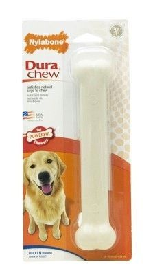 DOG TOYS - RUBBER AND PLASTIC - NYLABONE DURA CHEW - GIANT - CHICKEN - CENTRAL - TFH PUBLICATIONS - UPC: 18214778134 - DEPT: DOG PRODUCTS