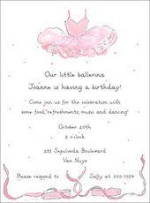recital invitations... birthday invitations... #tutu#ballet#slippers