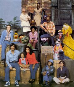 I am so lucky to have been the first Sesame Street/Muppets generation. Sesame Street - Original Cast, This was MY Sesame Street! Old Tv Shows, Kids Shows, Die Muppets, Ed Vedder, Fraggle Rock, Cinema, Originals Cast, Pbs Kids, Jim Henson