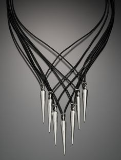 Spike necklace by Boston artist Donna Verveka $446 Available @ noagifts online store