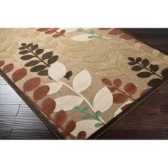 @Overstock - Perfect for indoors and outdoors, a floral pattern decorates this woven area rug. Shades of natural, brown, rust, beige, ivory, green and teal accent this rug.http://www.overstock.com/Home-Garden/Woven-Floral-Terrance-Rug-5-x-76/5903777/product.html?CID=214117 $65.99