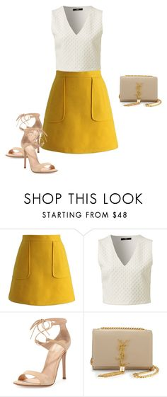 """""""Untitled #1659"""" by quaybrooks on Polyvore featuring Chicwish, Gianvito Rossi, Yves Saint Laurent, women's clothing, women's fashion, women, female, woman, misses and juniors"""