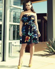 Curvy is the new black. - sweet-lynn: Tara Lynn for Addition Elle \ Summer. Thick Girl Fashion, Curvy Fashion, Trendy Fashion, Plus Size Fashion, Fashion Outfits, Fashion Ideas, Dress Outfits, Fashion Trends, Trendy Plus Size Clothing