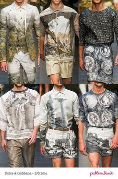 DOLCE & GABBANA Milan Print & Pattern Highlights   Spring/Summer 2014  catwalks