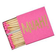 Muah Matchbox #gift-25-under #home-decor-bar #home-decor-candles #paper-desk-accessories
