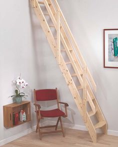 Amsterdam Wooden Space Saver Staircase Kit (Loft Stair) - Suitable for a Floor…