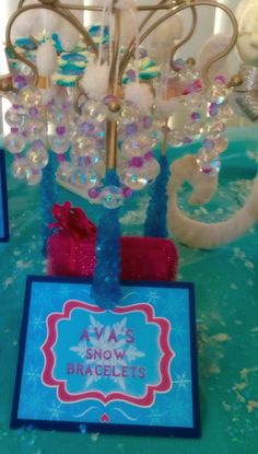 Ice Bracelets were also custom made for our guests. Along, with a satchel to put them in.