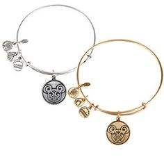 Mickey Mouse Filigree Bangle by Alex and Ani | Disney Store A filigree design etched into the icon charm brings positive energy to this Mickey Mouse Bangle. Designed by Alex and Ani to ''enlighten the mind, and empower the spirit,'' it features a sliding mechanism for a perfect fit.