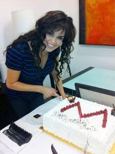 Celebrating her birthday