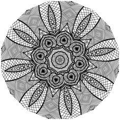 Kostenlose Mandalavorlagen zum herunterladen Mandala Vorlage