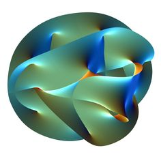 This animation shows a Calabi-Yau surface, a projection of higher dimensions into more familiar dimensions we are aware of.   According to string theory, there are additional dimensions that we are unfamiliar with because they are curled up into tiny complicated shapes that can only be seen on tiny scales. If we could shrink to this tiny, Planck-sized scale, we could explore 6 additional dimensions at every 3D point in space.