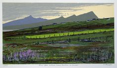 "ARTFINDER: Pairc Glas, Leithinis Chorca Duibhne by Aidan Flanagan - The title translates to ""Green Field, Dingle Peninsula"", in Co Kerry, Ireland. This screenprint of a Kerry landscape was printed in Aug 08 and consists of Original Artwork, Original Paintings, Graphic Art Prints, Grass Field, Irish Art, Online Art Gallery, Screen Printing, Wall Art, Landscape"