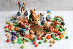Garden & Rabbit Theme Cake Toppers - Fondant 3D Beatrix Potter Cupcake Toppers by mimicafe Union