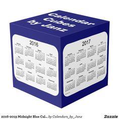 2016-2019 Midnight Blue Calendar Cubes by Janz Photo Cube