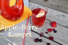 So easy to make Summer Drinks, My Recipes, Juice, Berries, Pudding, Apple, Homemade, Easy, Desserts