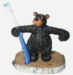 Black Bear Toothbrush Holder For The Bathroom Decor Lyblkbearbath