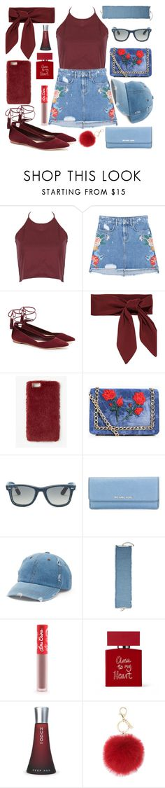 """MYLOVE."" by valemx on Polyvore featuring WithChic, MANGO, Loeffler Randall, Missguided, Boohoo, Ray-Ban, MICHAEL Michael Kors, Mudd, Gemma Simone and Lime Crime"