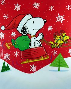 "(no words - ""Snoopy Santa"") - Peanut Gang / Snoopy, Woodstock & W . Peanuts Christmas, Charlie Brown Christmas, Charlie Brown And Snoopy, Christmas Art, Vintage Christmas, Xmas, Christmas Jokes, Grinch Christmas, Cheap Christmas"