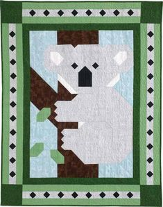 Aussie Patch quilt pattern: Take a trip down under with the latest addition to the Quiltmaker Patch Pals Collection - a super cute koala! This adorable and easy crib quilt is a treasure for any child.