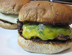 Spinach stuffed portabella burgers