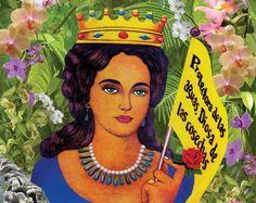 I love this image of Maria Lionza, Venezuelan Goddess.