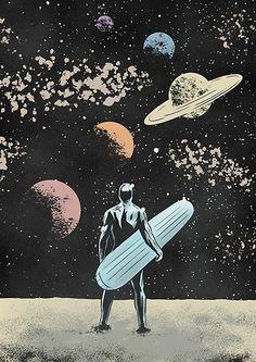 'Silver Surfer' Poster by AhmedRaafatArt - Geek World Comic Movies, Comic Books Art, Comic Art, Marvel Comic Universe, Marvel Art, Silver Surfer Marvel, Silver Surfer Wallpaper, Surfer D'argent, Pop Art