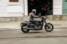 Take on the urban grid with 500cc of easy-handling, blacked-out #Dark Custom style. | 2016 Harley-Davidson Street 500