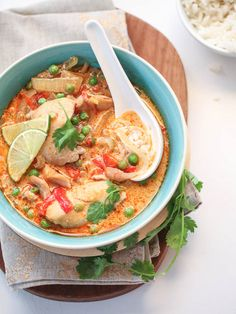 this is awesome, quick and easy. Add a tsp of sriracha for a little zip. Slow Cooker Thai Chicken Soup | FoodieCrush.com