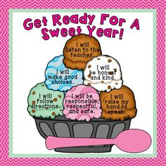 """""""Get Ready For A Sweet Year!"""" Back-to-School Bulletin Board... fun way to display classroom expectations!"""