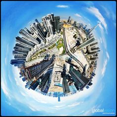 Check these amazing panoramas over Dubai. Turn around and discover the world as never seen before. Birds Eye View, New Perspective, Our World, Aerial View, Dubai, City Photo, Arch, Fair Grounds, Tours