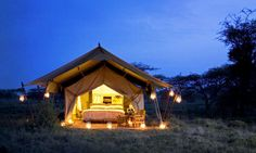 The Serengeti of Tanzania is one of Africa's most-loved safari destinations. With so much accommodation to choose from, here are our Top 5 Serengeti Camps. Camping Glamping, Luxury Camping, Beach Camping, Camping Ideas, Retro Camping, Camping Set, Camping Stuff, Camping Checklist, Family Camping